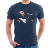 Sidney Maurer Original Portrait Of Luciano Pavarotti Mens T-Shirt - Small / Navy Blue - Mens T-Shirt