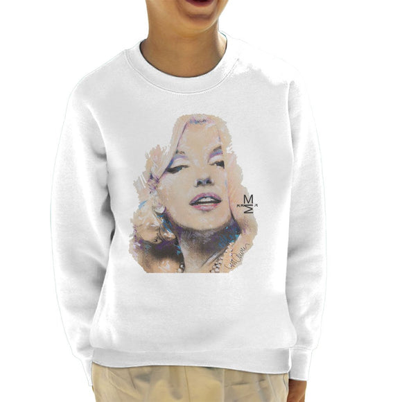 Sidney Maurer Original Portrait Of Marilyn Monroe Kids Sweatshirt - Kids Boys Sweatshirt