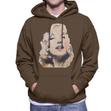 Sidney Maurer Original Portrait Of Marilyn Monroe Mens Hooded Sweatshirt - Mens Hooded Sweatshirt