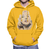 Sidney Maurer Original Portrait Of Marilyn Monroe Mens Hooded Sweatshirt - Small / Gold - Mens Hooded Sweatshirt