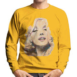 Sidney Maurer Original Portrait Of Marilyn Monroe Mens Sweatshirt - Small / Gold - Mens Sweatshirt