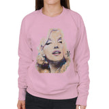 Sidney Maurer Original Portrait Of Marilyn Monroe Womens Sweatshirt - Small / Light Pink - Womens Sweatshirt