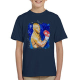 Sidney Maurer Original Portrait Of Mike Tyson Kids T-Shirt - Kids Boys T-Shirt