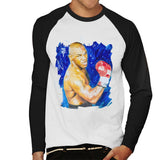 Sidney Maurer Original Portrait Of Mike Tyson Mens Baseball Long Sleeved T-Shirt - Mens Baseball Long Sleeved T-Shirt
