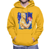 Sidney Maurer Original Portrait Of Mike Tyson Mens Hooded Sweatshirt - Small / Gold - Mens Hooded Sweatshirt