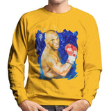 Sidney Maurer Original Portrait Of Mike Tyson Mens Sweatshirt - Small / Gold - Mens Sweatshirt
