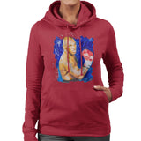 Sidney Maurer Original Portrait Of Mike Tyson Womens Hooded Sweatshirt - Womens Hooded Sweatshirt
