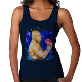 Sidney Maurer Original Portrait Of Mike Tyson Womens Vest - Small / Navy Blue - Womens Vest