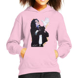 Sidney Maurer Original Portrait Of Michael Jackson White Glove Kids Hooded Sweatshirt - X-Small (3-4 yrs) / Light Pink - Kids Boys Hooded