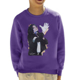 Sidney Maurer Original Portrait Of Michael Jackson White Glove Kids Sweatshirt - Kids Boys Sweatshirt
