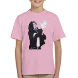 Sidney Maurer Original Portrait Of Michael Jackson White Glove Kids T-Shirt - X-Small (3-4 yrs) / Light Pink - Kids Boys T-Shirt