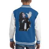 Sidney Maurer Original Portrait Of Michael Jackson White Glove Kids Varsity Jacket - X-Small (3-4 yrs) / Royal/White - Kids Boys Varsity