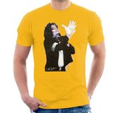 Sidney Maurer Original Portrait Of Michael Jackson White Glove Mens T-Shirt - Small / Gold - Mens T-Shirt