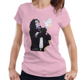 Sidney Maurer Original Portrait Of Michael Jackson White Glove Womens T-Shirt - Small / Light Pink - Womens T-Shirt