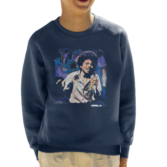 Sidney Maurer Original Portrait Of Young Michael Jackson Kid's Sweatshirt