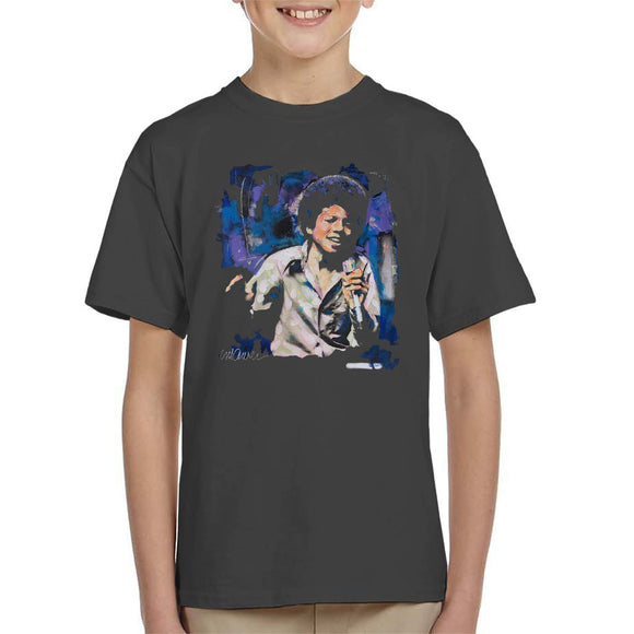 Sidney Maurer Original Portrait Of Young Michael Jackson Kid's T-Shirt