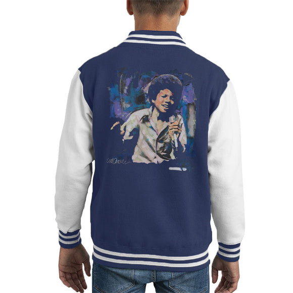 Sidney Maurer Original Portrait Of Young Michael Jackson Kid's Varsity Jacket