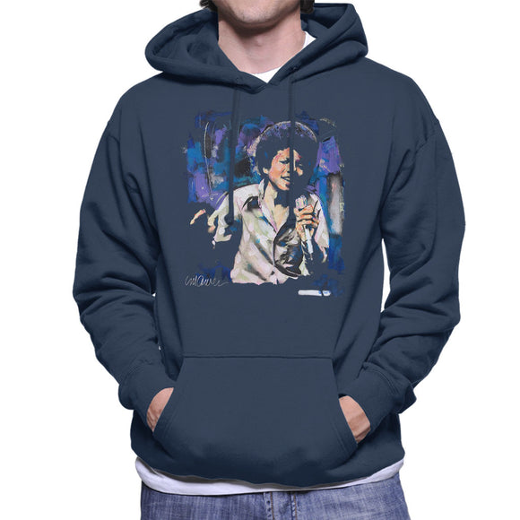Sidney Maurer Original Portrait Of Young Michael Jackson Men's Hooded Sweatshirt