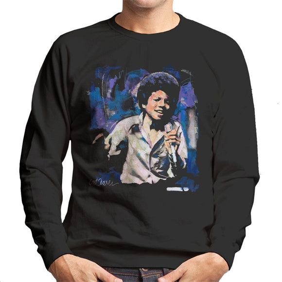 Sidney Maurer Original Portrait Of Young Michael Jackson Men's Sweatshirt