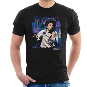 Sidney Maurer Original Portrait Of Young Michael Jackson Men's T-Shirt