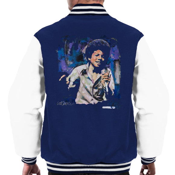 Sidney Maurer Original Portrait Of Young Michael Jackson Men's Varsity Jacket