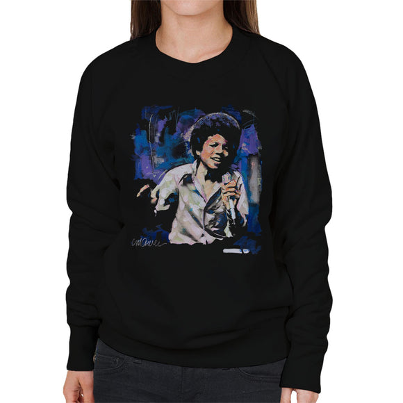 Sidney Maurer Original Portrait Of Young Michael Jackson Women's Sweatshirt