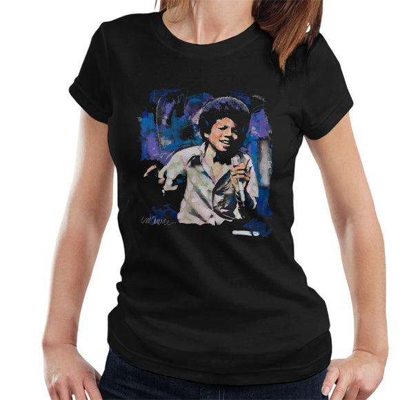 Sidney Maurer Original Portrait Of Young Michael Jackson Women's T-Shirt