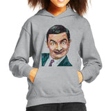 Sidney Maurer Original Portrait Of Mr Bean Rowan Atkinson Kids Hooded Sweatshirt - Kids Boys Hooded Sweatshirt