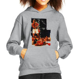 Sidney Maurer Original Portrait Of Muhammad Ali Sonny Liston Knockout Kids Hooded Sweatshirt - Kids Boys Hooded Sweatshirt
