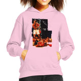Sidney Maurer Original Portrait Of Muhammad Ali Sonny Liston Knockout Kids Hooded Sweatshirt - Light Pink / X-Small (3-4 yrs) - Kids Boys