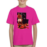 Sidney Maurer Original Portrait Of Muhammad Ali Sonny Liston Knockout Kids T-Shirt - Hot Pink / X-Small (3-4 yrs) - Kids Boys T-Shirt