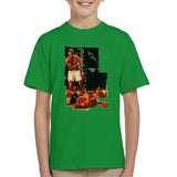 Sidney Maurer Original Portrait Of Muhammad Ali Sonny Liston Knockout Kids T-Shirt - Kids Boys T-Shirt