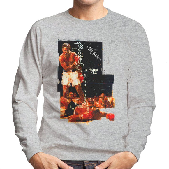 Sidney Maurer Original Portrait Of Muhammad Ali Sonny Liston Knockout Mens Sweatshirt - Mens Sweatshirt