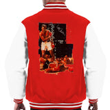 Sidney Maurer Original Portrait Of Muhammad Ali Sonny Liston Knockout Mens Varsity Jacket - Red/White / Small - Mens Varsity Jacket