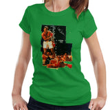 Sidney Maurer Original Portrait Of Muhammad Ali Sonny Liston Knockout Womens T-Shirt - Womens T-Shirt