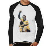 Sidney Maurer Original Portrait Of Pele Mens Baseball Long Sleeved T-Shirt - Mens Baseball Long Sleeved T-Shirt