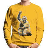 Sidney Maurer Original Portrait Of Pele Mens Sweatshirt - Small / Gold - Mens Sweatshirt