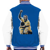 Sidney Maurer Original Portrait Of Pele Mens Varsity Jacket - Small / Royal/White - Mens Varsity Jacket