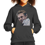 Sidney Maurer Original Portrait Of Steve McQueen Kids Hooded Sweatshirt - Kids Boys Hooded Sweatshirt