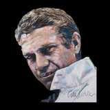 Sidney Maurer Original Portrait Of Steve McQueen Mens Baseball Long Sleeved T-Shirt - Mens Baseball Long Sleeved T-Shirt