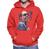 Sidney Maurer Original Portrait Of Stevie Wonder Mens Hooded Sweatshirt - Mens Hooded Sweatshirt