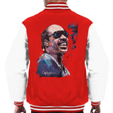 Sidney Maurer Original Portrait Of Stevie Wonder Mens Varsity Jacket - Mens Varsity Jacket