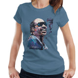 Sidney Maurer Original Portrait Of Stevie Wonder Womens T-Shirt - Womens T-Shirt