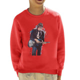 Sidney Maurer Original Portrait Of Bob Dylan On Bass Kids Sweatshirt - Kids Boys Sweatshirt