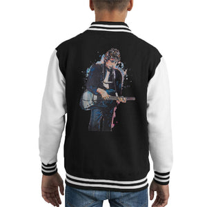Sidney Maurer Original Portrait Of Bob Dylan On Bass Kids Varsity Jacket - Kids Boys Varsity Jacket