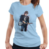 Sidney Maurer Original Portrait Of Bob Dylan On Bass Womens T-Shirt - Womens T-Shirt