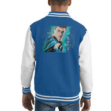 Sidney Maurer Original Portrait Of Daniel Radcliffe Harry Potter Kids Varsity Jacket - X-Small (3-4 yrs) / Royal/White - Kids Boys Varsity