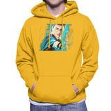 Sidney Maurer Original Portrait Of Daniel Radcliffe Harry Potter Mens Hooded Sweatshirt - Small / Gold - Mens Hooded Sweatshirt
