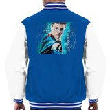 Sidney Maurer Original Portrait Of Daniel Radcliffe Harry Potter Mens Varsity Jacket - Small / Royal/White - Mens Varsity Jacket