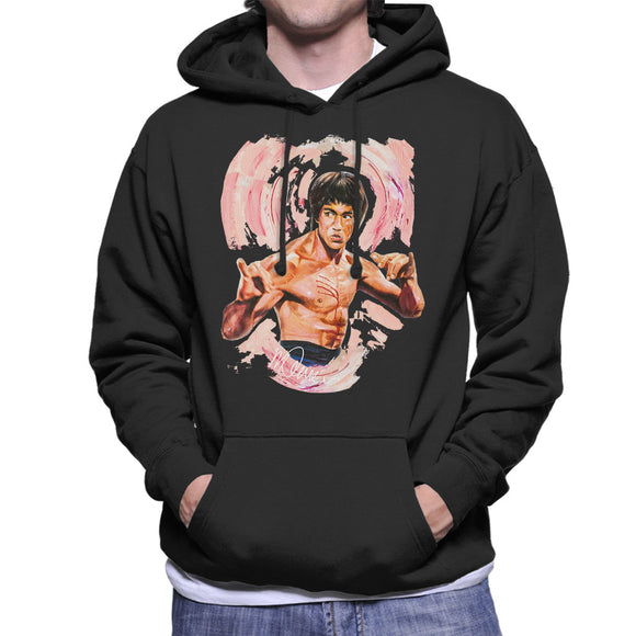 Sidney Maurer Original Portrait Of Bruce Lee Enter The Dragon Men's Hooded Sweatshirt
